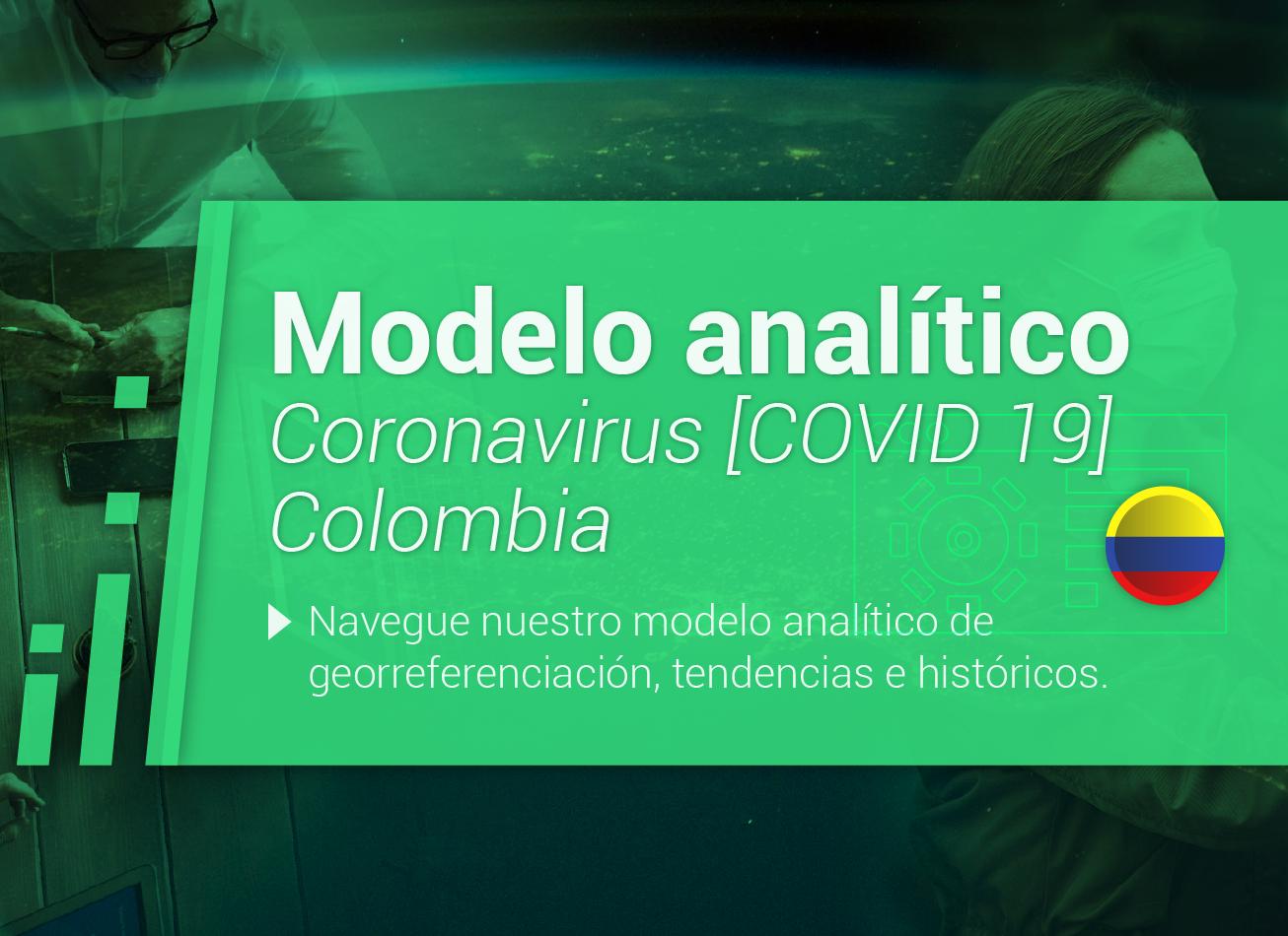 Modelo analítico Coronavirus (COVID-19) Colombia ciudades contagios muertes