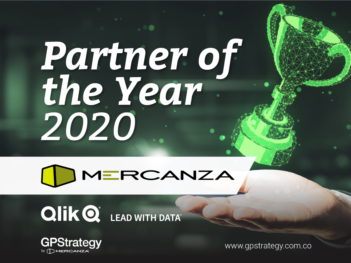Mercanza Qlik partner of the year 2020 - GPStrategy Colombia
